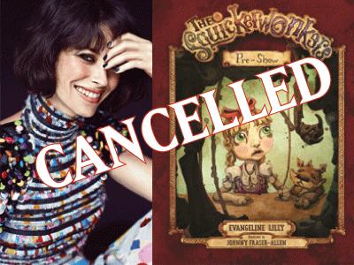 Cancelled Evangeline Lilly banner