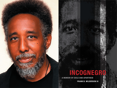 Frank Wilderson III author photo and Inconegro cover image
