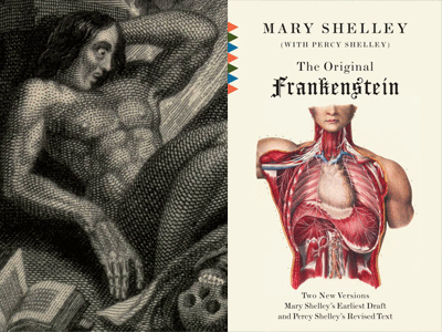 Frankenstein cover image and illustration