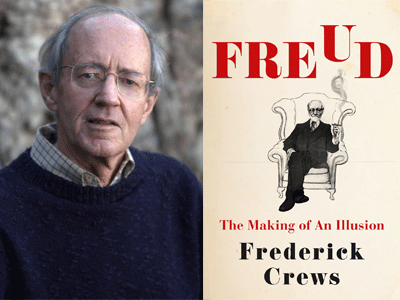 Fred Crews author photo and Freud cover image