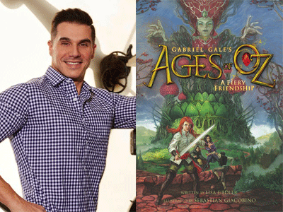 Gabriel Gale author photo and Ages of Oz cover image