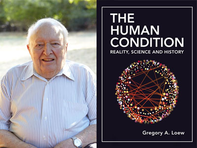 Gregory Loew author photo and The Human Condition cover image
