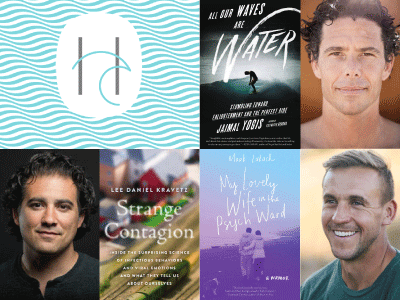 author photos and cover images for Lee Daniel Kravetz, Jaimal Yogis, and Mark Lukach