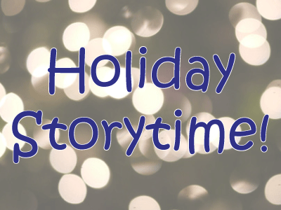 Holiday Storytime with lights in the background