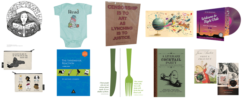 Indie Bookstore Day items