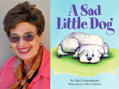 Ida Lewenstein author photo and A Sad Little Dog cover image