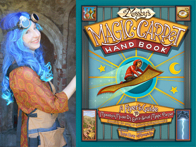 Ilona Bray author photo and Mossby's Magic Carpet Handbook