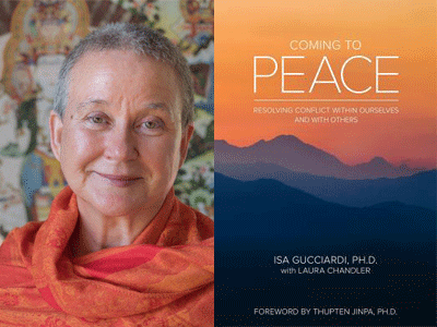 Isa Gucciardi author photo and coming to peace cover image