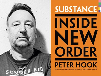 Peter Hook author photo and Substance: Inside New Order cover image