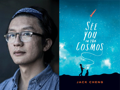 Jack Cheng author photo and See You in the Cosmos cover image