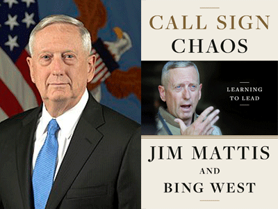 James Mattis author photo and Call Sign Chaos cover image