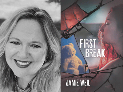 Jamie Weil author photo and First Break cover image