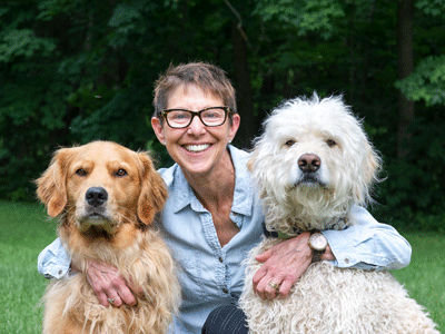 Jane Sobel Klonsky with dogs photo