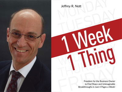 Jeffrey Nott author photo and 1 Week 1 Thing cover image