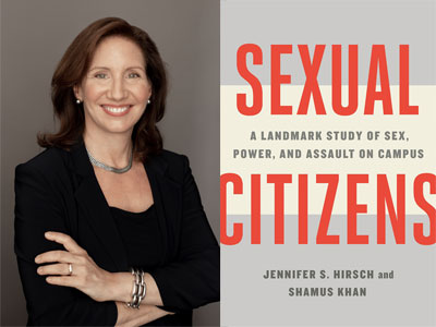 Jennifer Hirsch author photo and Sexual Citizens cover image