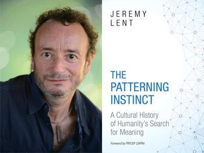 Jeremy Lent author photo and The Patterning Instinct cover image