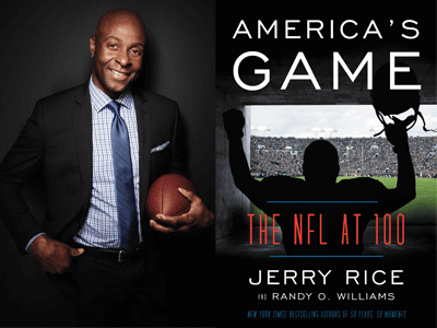 Jerry Rice author photo and America's Game cover image