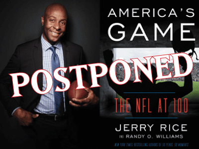 Jerry Rice Postponed banner