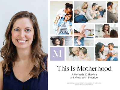 Jill Koziol author photo and This Is Motherhood cover image