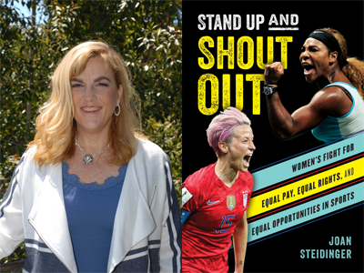 Joan Steidinger author photo and Stand Up and Shout cover image