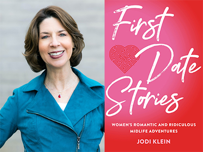 Jodi Klein author photo and First Date Stories cover image