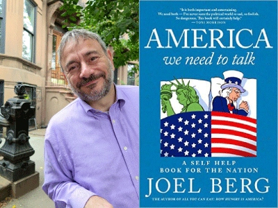Joel Berg author photo and America We Need to Talk cover image