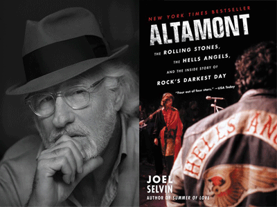 Joel Selvin author photo and Altamont cover image
