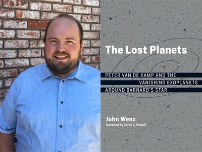 John Wenz author photo and The Lost Planets cover image