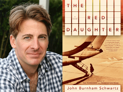 John Burnham Schwartz author photo and The Red Daughter cover image