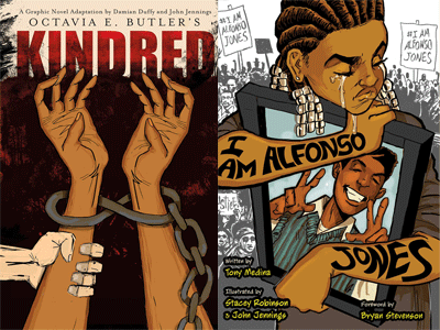cover images for Kindred and I Am Alfonso Jones