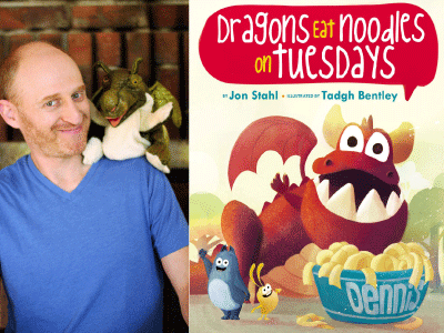 Jon Stahl author photo and Dragons Eat Noodles on Tuesdays