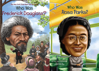 Who Was Frederick Douglass & Who Was Rosa Parks cover images