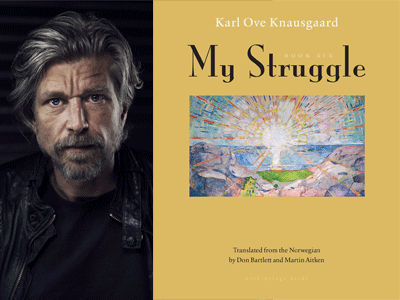 Karl Ove Knausgaard author photo and My Struggle #6 cover image