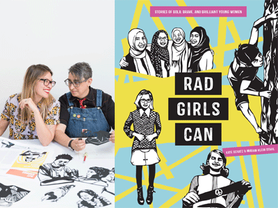 Kate Schatz and Miriam Klein Stahl author photo and Rad Girls Can cover image