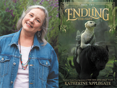 Katherine Applegate author photo and Endling The first cover image
