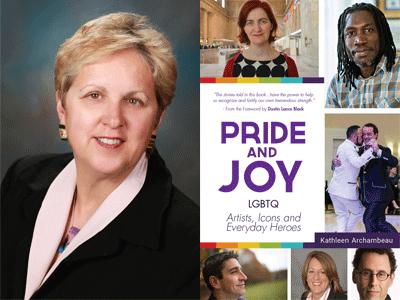 Kathleen Archambeau author photo and Pride and Joy cover image