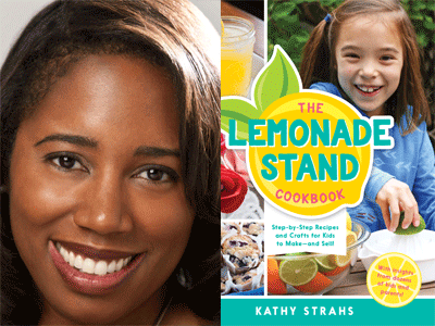 Kathy Strahs author photo and The Lemonade Stand cover image