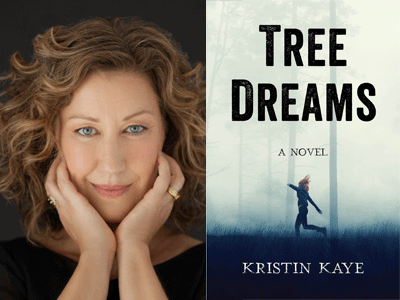 Kristin Kaye author photo and Tree Dreams cover image