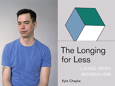Kyle Chayka author photo and The Longing for Less cover image