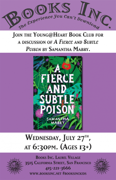 Young@Heart July Book Club Poster