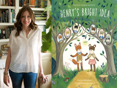 Lauren Bradshaw author photo and Henry's Bright Idea cover image