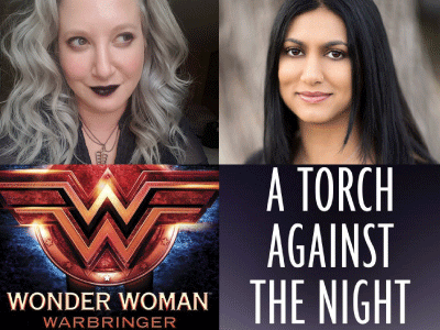 Author photos and cover images for Leigh Bardugo and Sabaa Tahir