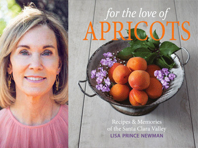 Lisa Prince Newman author photo and For the Love of Apricots cover image