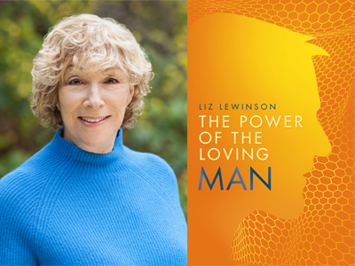 Liz Lewinson author phtoo and The Power of the Loving Man cover image