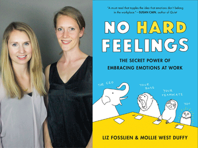 Liz Fosslein and Mollie West Duffy photo and No Hard Feelings cover image