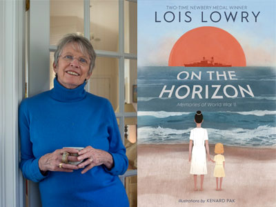 Lois Lowry author photo and On the Horizon cover image
