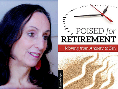 Louise Nayer author photo and Poised for Retirement cover image
