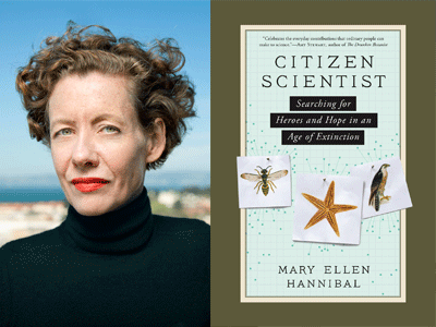 Mary Ellen Hannibal author photo and Citizen Scientist cover image