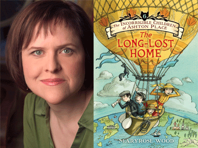 Maryrose Wood author photo and The Long Lost Home cover image