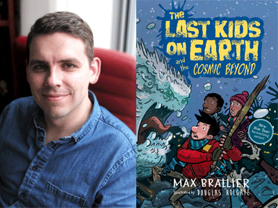 Max Brallier author photo and The Last Kids on Earth cover image